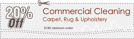 Cleaning Coupons | 20% off commercial cleaning | Brooklyn Carpet Cleaning