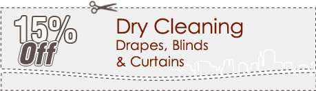 Cleaning Coupons | 15% off drapes, blinds and curtains | Brooklyn Carpet Cleaning